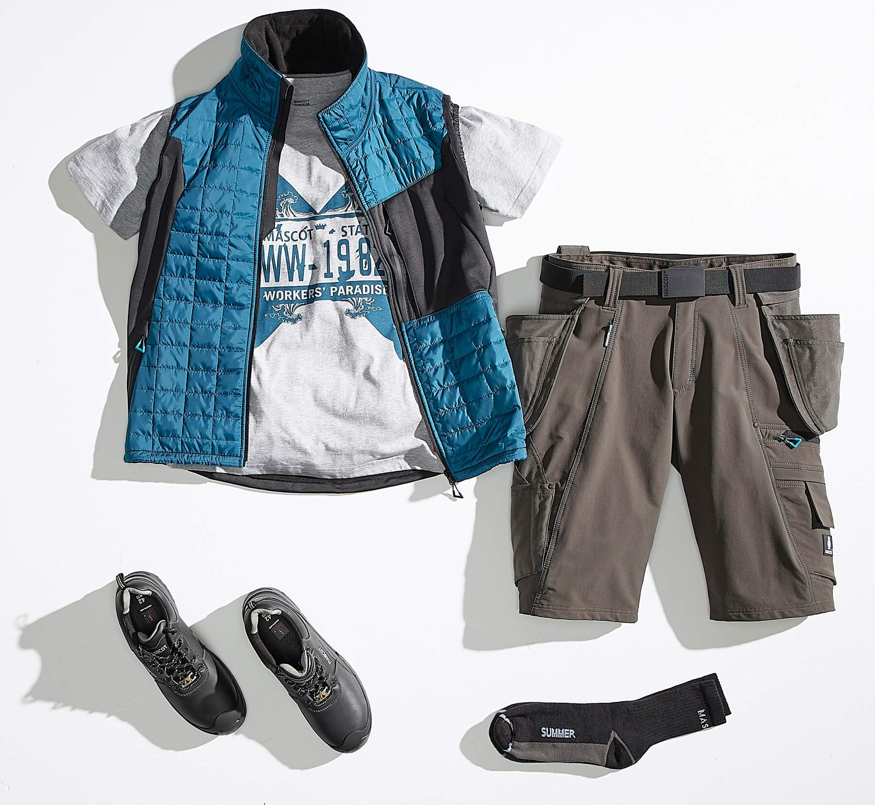 Collage - Vest, T-shirt & Shorts - ADVANCED