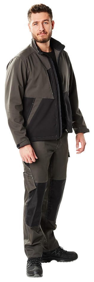 Model - mørk antracit/sort - Mand - Softshell jakke & Bukser