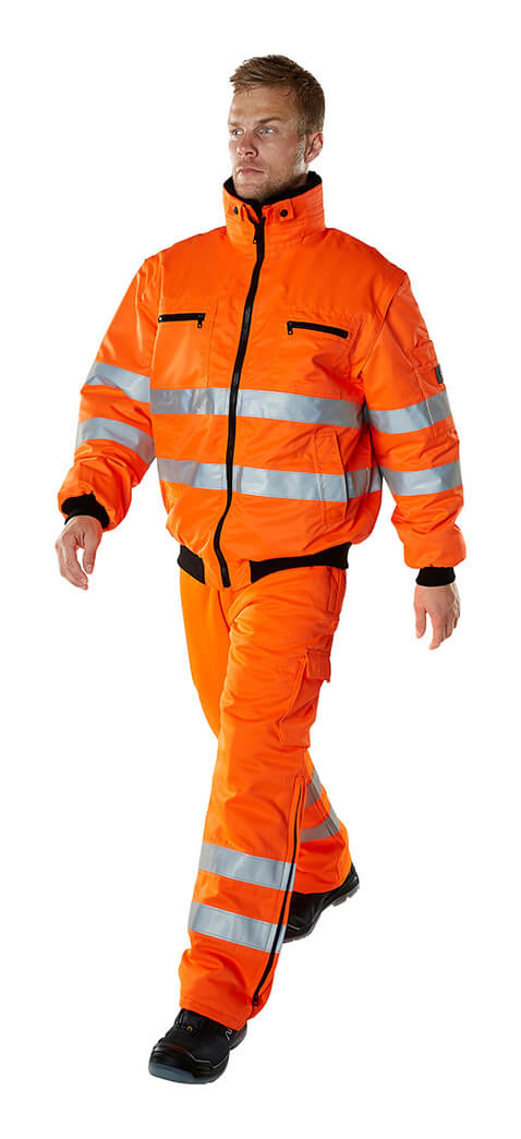 Model - Fluorescerende orange - Vinterbukser & Arbejdsjakke - MASCOT® SAFE ARCTIC