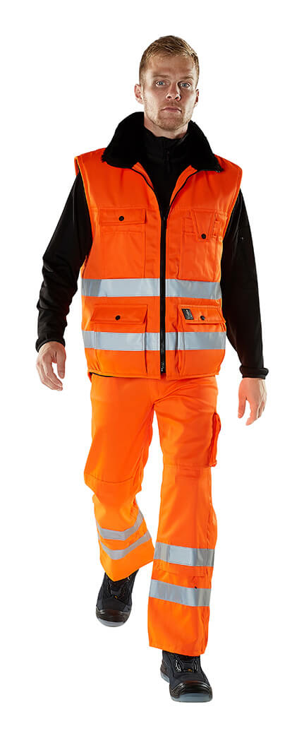 Vintervest & Bukser - Fluorescerende orange - Model - MASCOT® SAFE ARCTIC